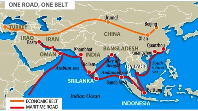 ipek yolu projesi deniz kara ve demir yolu ağlarıyla Çin'i üç kıtada hakim kılmayı hedefliyor.jpg