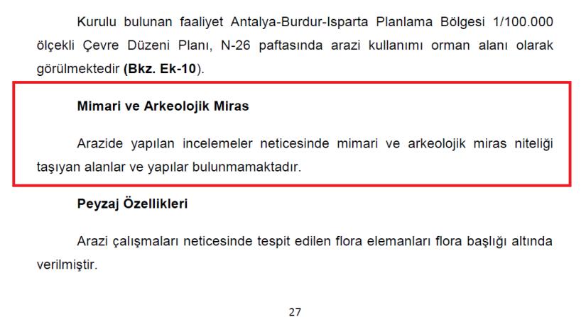 mermer ocağı için hazırlanan çed dosyasında alanda kültür mirası bulunmadığı belirtiliyor.png