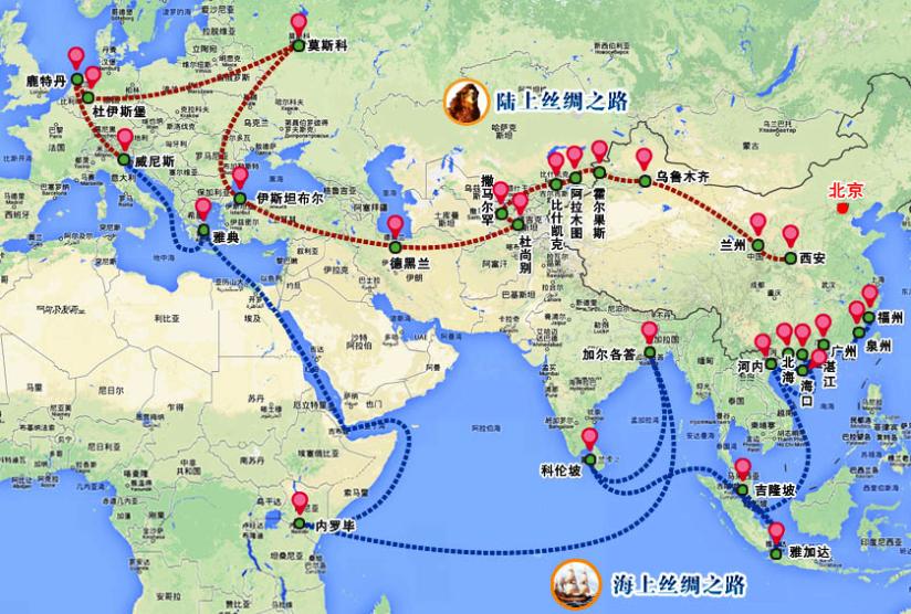 modern ipek yolu projesi Çin'in üç kıtadaki hakimiyetini amaçlıyor.png