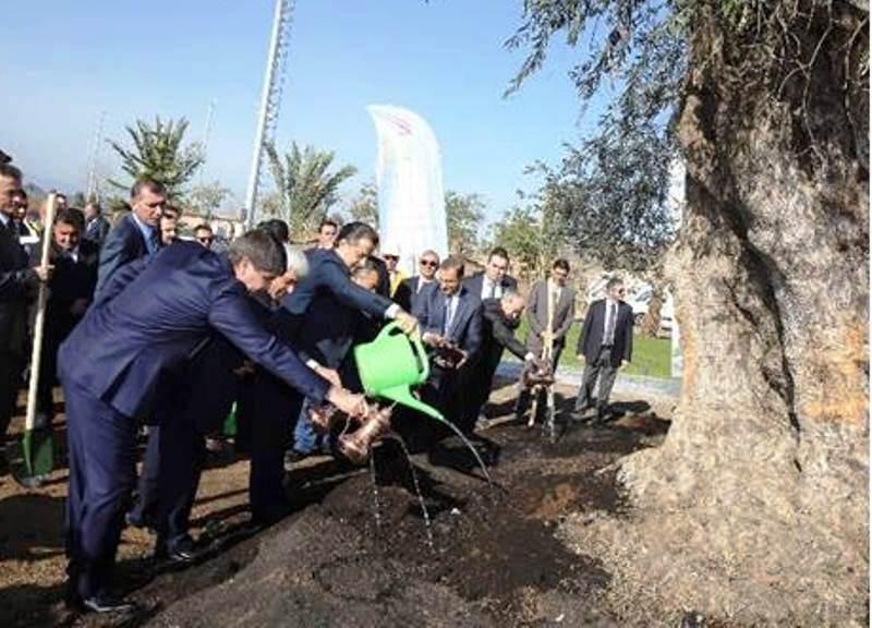 Bakan Çelik EXPO alanındaki zeytini büyükşehir belediye başkanıyla birlikte dikti.Jpeg