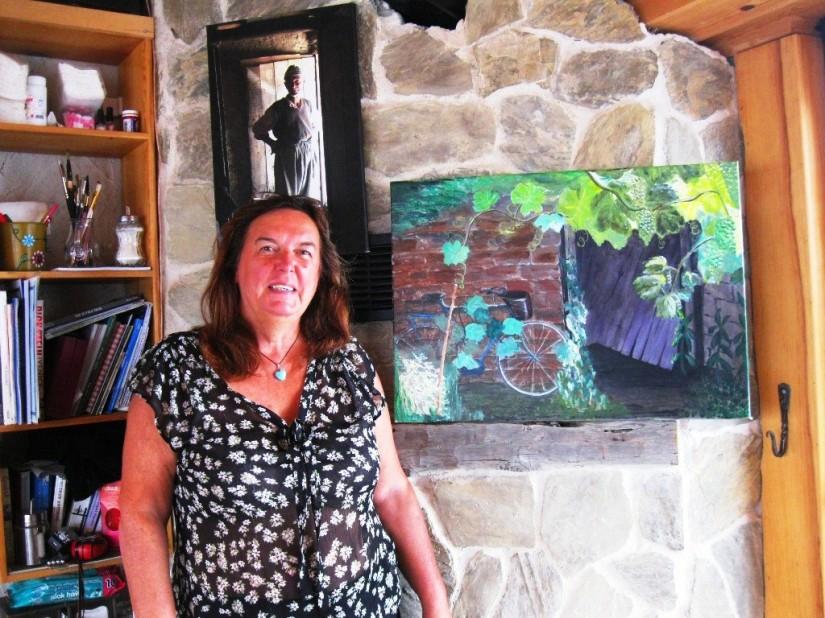 Carla konukseverliğinden etkilendiği Türk köylünün fotoğrafını başucundan ayırmıyor.JPG