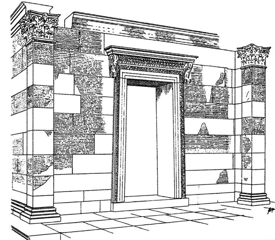 19 yüzyılda Opramıas anıtıyla ilgili yapılan bir çizim.jpg
