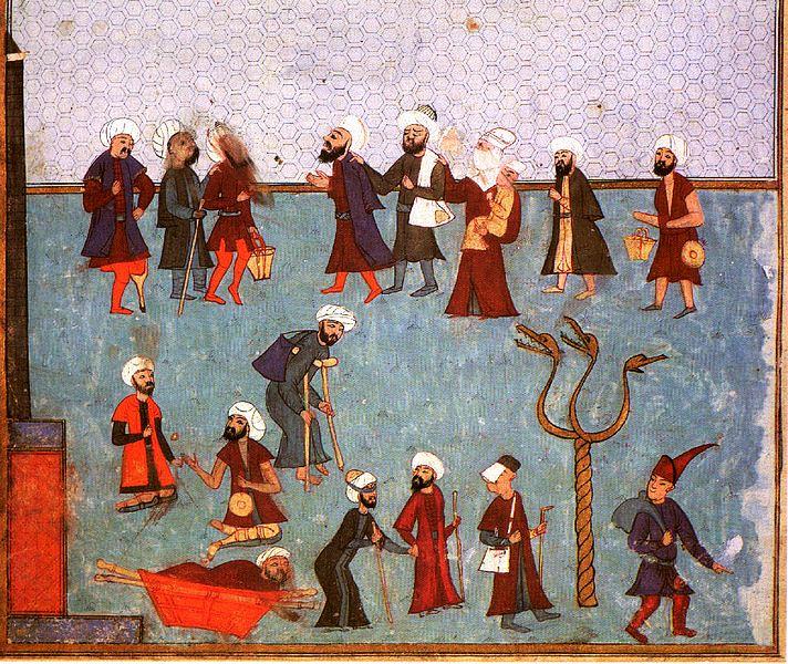 osmanlı döneminde goygoycuları betimleyen bir minyatür.jpg