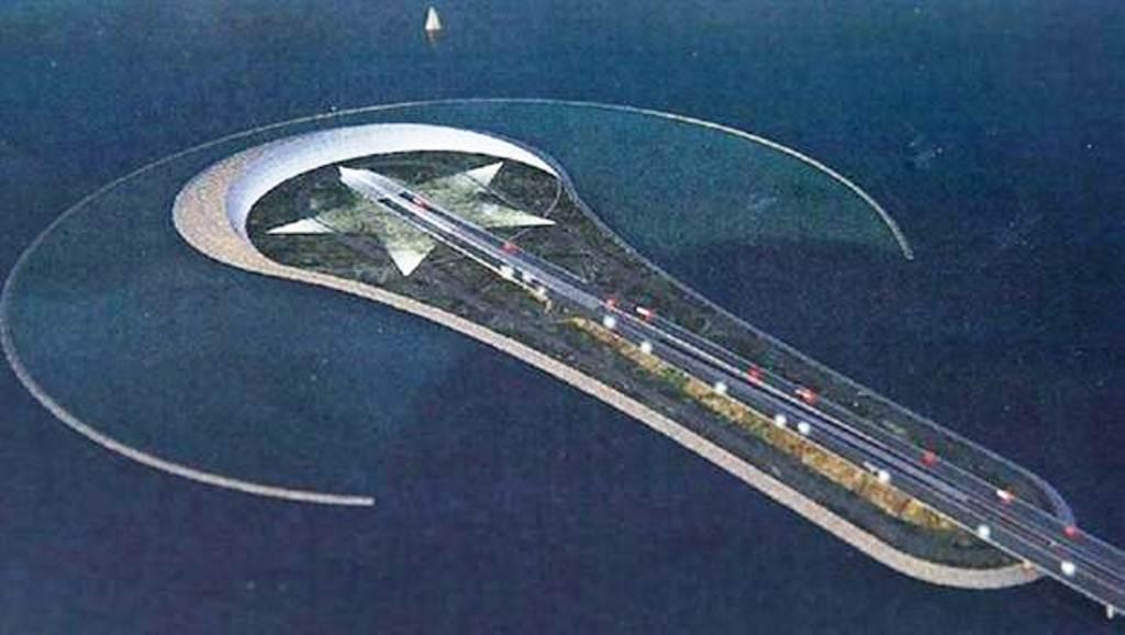 Körfez geçiş projesi kapsamında oluşturulması planlanan yapay ada ay yıldız ve ampul simgelerini birleştiriyor.jpg